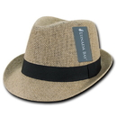 Lunada Bay 559 Jute Fedora Hat