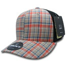 Decky 6018 M/C Plaid, Black Mesh Cap