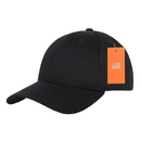 Decky 801 TearAway Cotton Baseball Cap, Black
