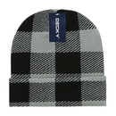 Decky 8027 Long Plaid Beanie