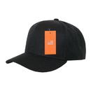 Decky 803 TearAway Acrylic Curve Bill Cap, Black