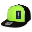 Decky 874 Neon Flat Bill Flex Caps (1 Size)