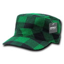 Decky 905 Flannel Flat Top Caps