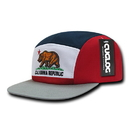 CUGLOG C33 Cal Flag 5 Panel Racer Cap, Wht/Red/Nvy