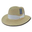 Lunada Bay L002 Style K Paper Braid Hat, Natural