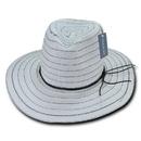 Lunada Bay L005 Style W Paper Braid Hat, White