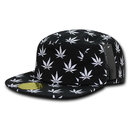 Nothing Nowhere N20 5 Panel Hats, Printed Mota, Black