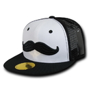 Nothing Nowhere N25 NN Snapback, Mustache, Black