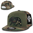 WHANG W16-WOW - Camo Applique Cali Bear Snapback, Embroidery