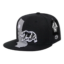 WHANG W86 Monster Snapbacks, Cali Rep, Black/Black