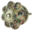 D. Lawless Hardware Speckled Multi-Colored Ceramic Knob - 1 3/4