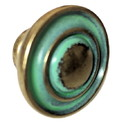 D. Lawless Hardware Verdigris Center Peak with Two Rings Cabinet Knob 1-1/4
