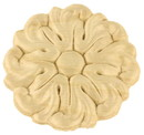 D. Lawless Hardware Birch Wood Applique - Flower Medallion 2