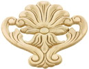 D. Lawless Hardware Decorative Plume Applique - Birch Wood - 5 3/4