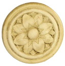 D. Lawless Hardware Birch Round Applique - Two Circles Surronding Flower Medallion 2-5/16