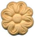 D. Lawless Hardware Birch Wood Applique - Flower Medallion 1-3/4