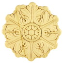 D. Lawless Hardware Birch Wood Applique - Large Round Medallion 5