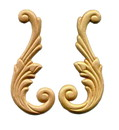 D. Lawless Hardware Birch Pair Wood Applique - Wings - Left & Right 5-1/4