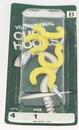 Hillman Yellow Vinyl Cup Hook - 1