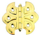 D. Lawless Hardware Butterfly Cabinet Hinge - Brass Plated w/ Screws 2-3/16