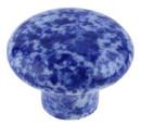 D. Lawless Hardware Ceramic Blue Granite Enamelware Knob - 1 1/4