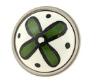 Liberty Hardware Betsy Fields Green Flower Knob 1-3/8