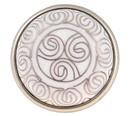Liberty Hardware White Cloisonne Tribal Pattern Knob - 42mm