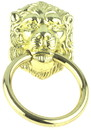 D. Lawless Hardware Lion Head Design Ring Pull 2-3/8