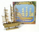 D. Lawless Hardware Wood Sailing Ship Model, Three Mast Barque, SM10-15152