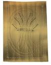 D. Lawless Hardware Pie Safe Tin - Antique Brass - Vertical Wheat Stalks