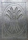 D. Lawless Hardware Pie Safe Tin - Hammered Antique Pewter - Vertical Wheat Stalks