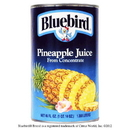 Bluebird From Concentrate Shelf Stable Pineapple Juice