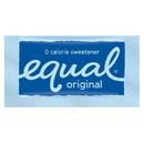 Equal Zero Calorie Sweetener Blue Kosher 2000 Packets Per Case