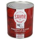 Savor Imports Choice Pineapple Slices In Juice #10 Can - 6 Per Case
