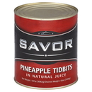 Savor Imports Pineapple Tidbits In Juice #10 Can - 6 Per Case