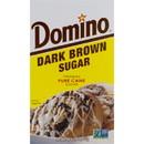 Commodity Sugar & Sugar Packets Dark Brown Domino Sugar 1 Pound Box - 24 Per Case