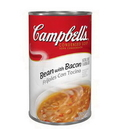 Campbell'S Classic Bean With Bacon Condensed Shelf Stable Soup 52 Ounce Can - 12 Per Case