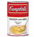 Campbell'S Classic Chicken And Rice Condensed Shelf Stable Soup 50 Ounce Can - 12 Per Case