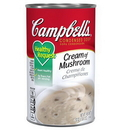 Campbell'S Classic Healthy Request Cream Of Mushroom Condensed Shelf Stable Soup 50 Ounce Can - 12 Per Case