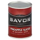 Savor Imports In-Juice Choice Sliced Pineapple 20 Ounces - 24 Per Case