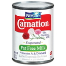 Nestle Carnation Evaporated Fat Free Milk 12 Ounces Per Can - 24 Per Case