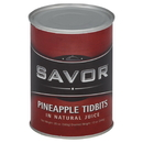 Savor Imports Tidbit Pineapple In Juice 20 Ounces Per Pack - 24 Per Case Ounce