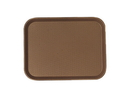 Cambro 13.81 Inch X 17.75 Inch Brown Plastic Fast Food Tray 12 Per Pack - 1 Per Case