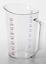 Cambro 400MCCW135 Measuring Cup Plastic 4 Quart Clear 1-1 Each