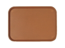 Cambro 11.875 Inch X 16.13 Inch Brown Plastic Fast Food Tray 1 Per Pack - 24 Per Case