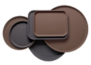 Serving Tray Plastic Round 16 Inch Black 1-1 Each