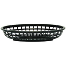 Tablecraft 1074BK Oval Blk Basket Hdpe 9.375X6