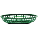 Tablecraft 9.375 Inch X 6 Inch X 1.375 Oval Classic Oval Forest Green Basket 36 Per Pack - 1 Per Case