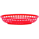 Tablecraft Classic Oval Basket Hdpe Red 9.375X6X1.875 36 Per Case