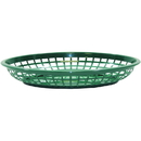 Tablecraft 1084FG Oval Jumbo Basket Forest Green